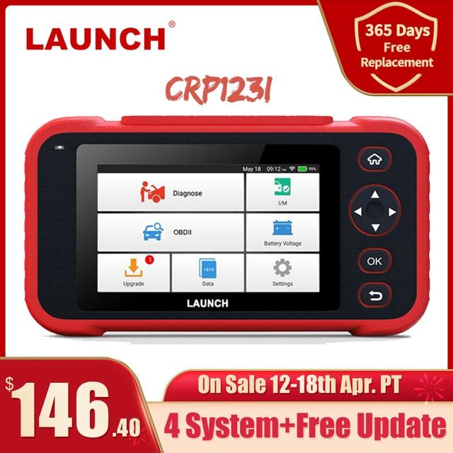 LAUNCH X431 CRP123i OBD OBD2 Coder Reader Scanner 4 System Diagnostic OBD 2 Auto Scanner Car Diagnostic Tool Automotive Scanner