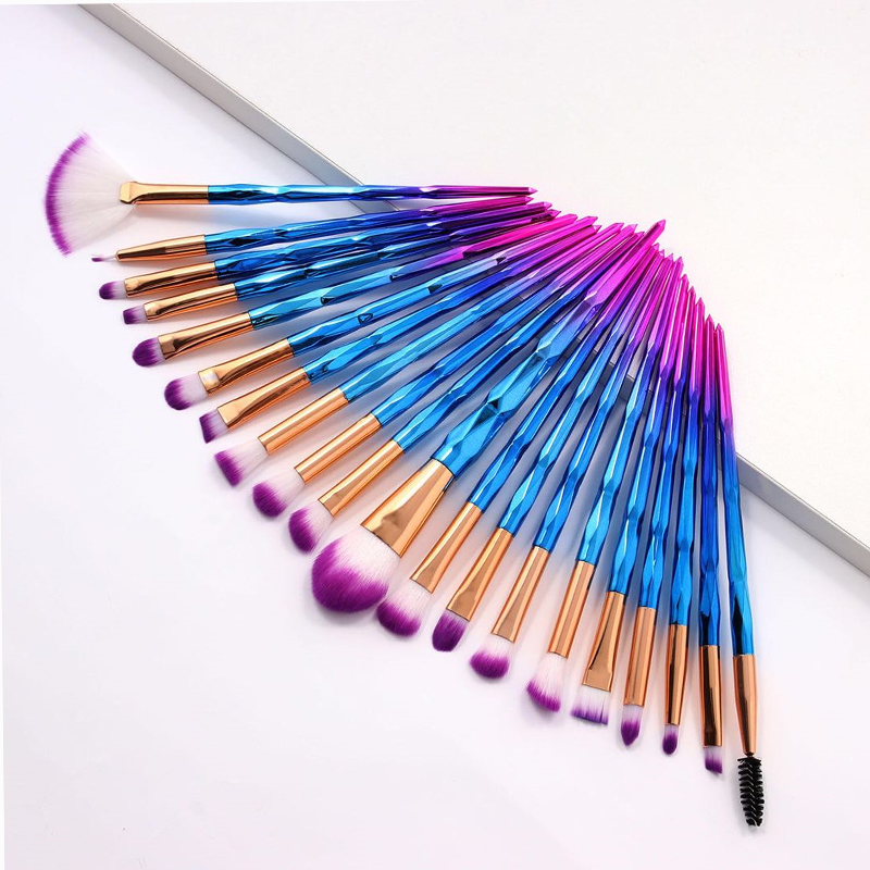 20Pcs Diamond Makeup Brushes Set Powder Foundation Blush Blending Eye Shadow Lip Cosmetic Beauty Make Up Brush