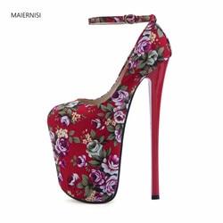 Nuevo patrón de zapatos de mujer zapatos damas zapatos de tacón alto de alta calidad Extra grande CÓDIGO DE 22cm de tacón Club vender bien 3-15 16 MAIER