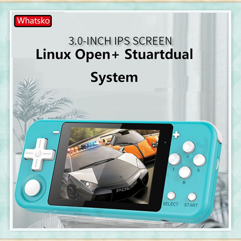 Powkiddy Mini Q90 Handheld Retro Video Game Console 3 Inch IPS Screen 16GB 4000+ Games Support PS1 Game 3D Games Gaming Console