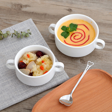Bowl Pure-White Tablewares Salad Soup-Pot Dessert Sauce Stewed Ceramic Western Kitchen