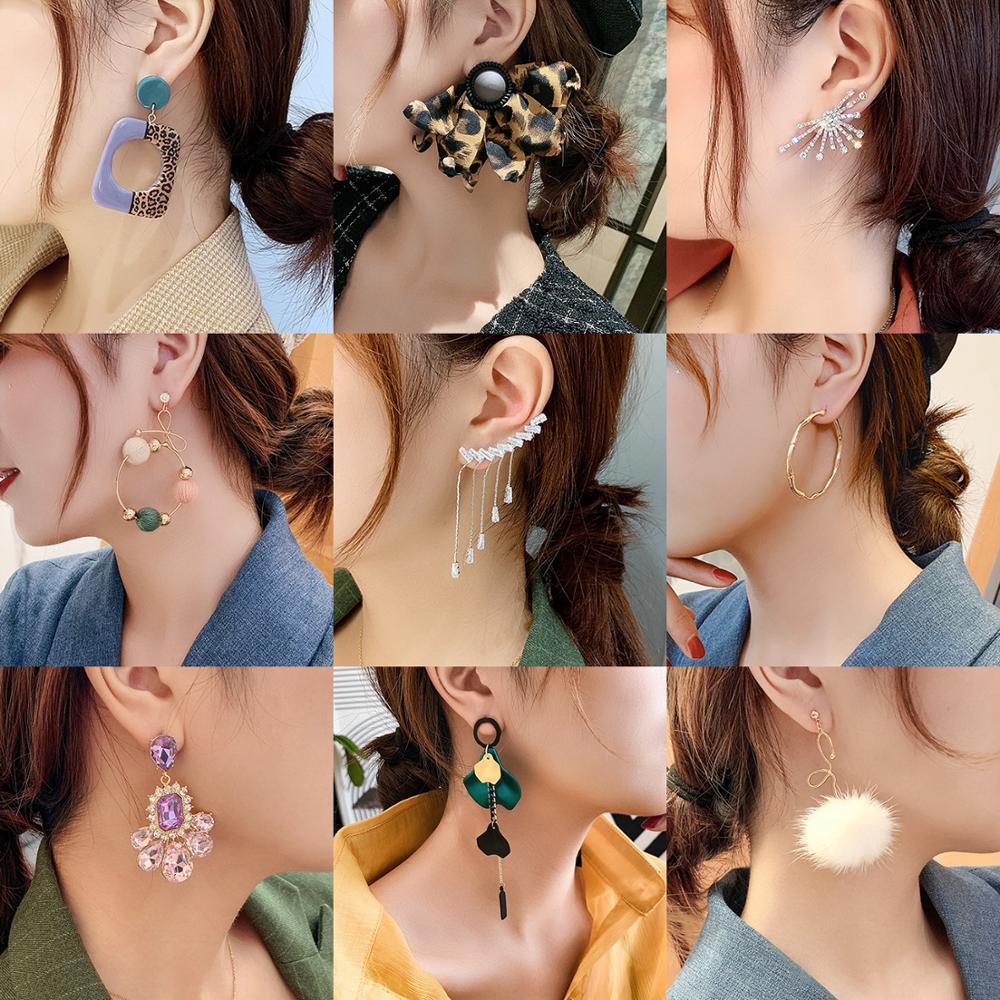 New Elegant Leopard Print Earrings Women's Delicate Gold Silver Plated CZ Crystal Pearl Earring Korean Stud Hook Drop Earrings