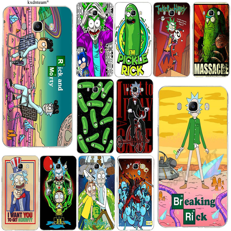 Slim Silicone Soft Mobile Phone Case for Samsung Galaxy J1 J2 J3 J5 J7 2015 2016 2017 Funny Cartoon Comic Meme Rick And Morty image