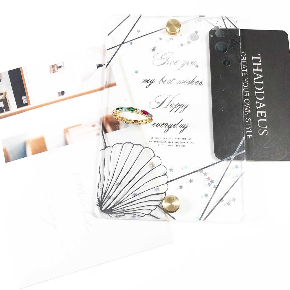 זהב צבע צבעוני אבנים טבעת, תומאס סגנון כלה סטי גלאם אופנה טובה Jewerly לנשים, 2018 Ts מתנת ב 925 סטרלינג כסף