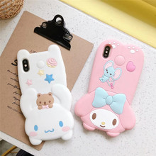 Jamular Phone Case For iPhone X XS Max XR iphone 6 6s 7 8 plus Back Cover Fashion Cute Cartoon animal Soft  TPU case