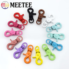 Meetee 5/10pcs 20x43mm Color Painted Keyring Buckle Lobster Lock  DIY Handmade Decoration Jewelry Accessories AP610