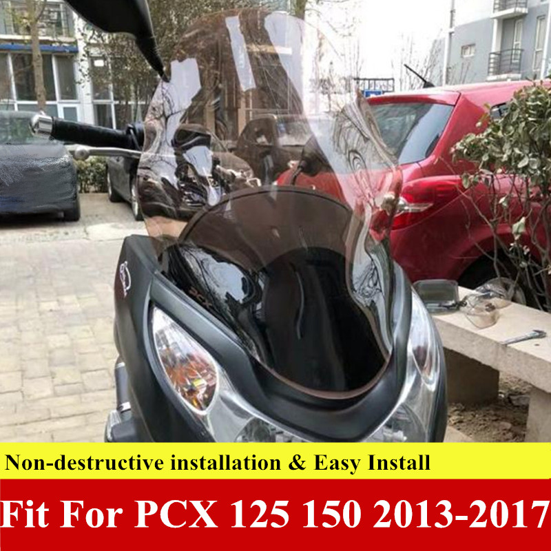 Modified Motorcycle Pcx125 150 2013 2014 2015 2016 2017 Pcx Windscreen Windshield Deflector Guard For Honda Pcx125 150 2013-2017