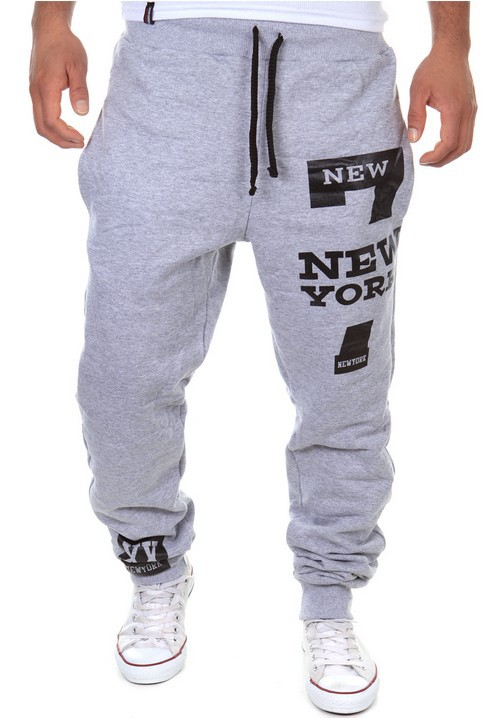 Casual Athletic Pants With Numbers 7 Printed New York Printed Letter Athletic Pants-K03