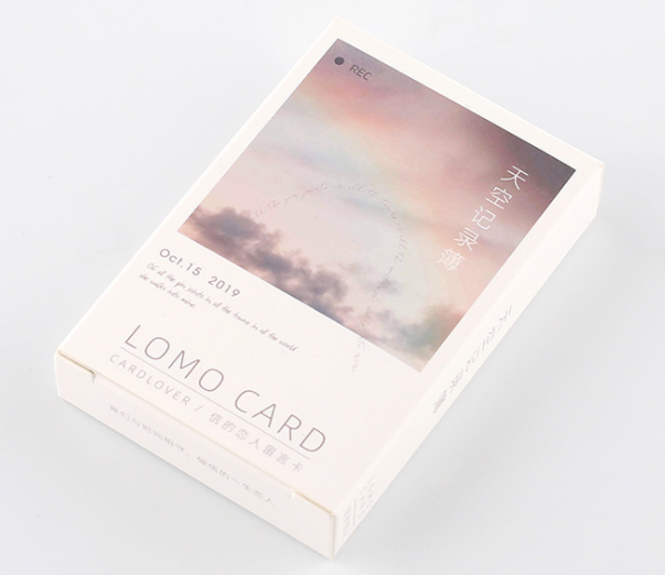 52mm*80mm Record sky paper greeting card lomo card(1pack=28pieces)