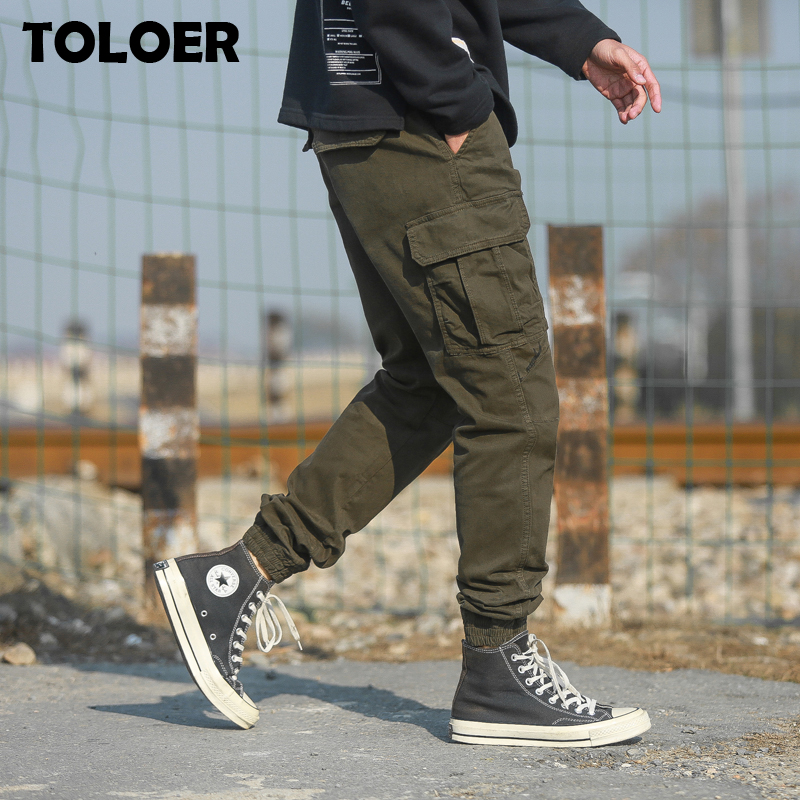 New Men Tactical  Pants Spring Summer Men''s Sports Casual Cargo Pants 2020 Male Fasion Army Military Patchwork Trousers Joggers