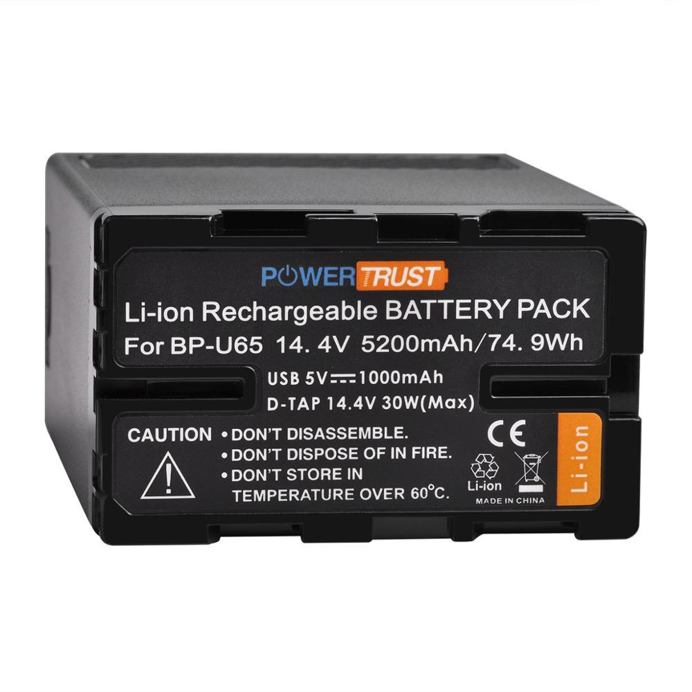 1x5200mAh BP-U65 Batterie pour Sony BP-U60 BP-U30 BP-U90 PMW EX1 PMW EX1R PMW EX3 PMW F3 PMW F3K PMW F3L PXW-FS5 FS7 EX280