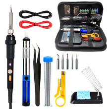 ELectric Soldering Iron Kit Adjustable Temperature Solder Welding Tools Soldering Tips Desoldering Pump Welding Hand Tools Set