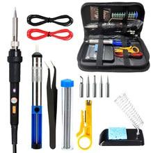 ELectric Soldering Iron Kit Adjustable Temperature Solder Welding Tools Soldering Tips Desoldering Pump Welding Hand Tools Set