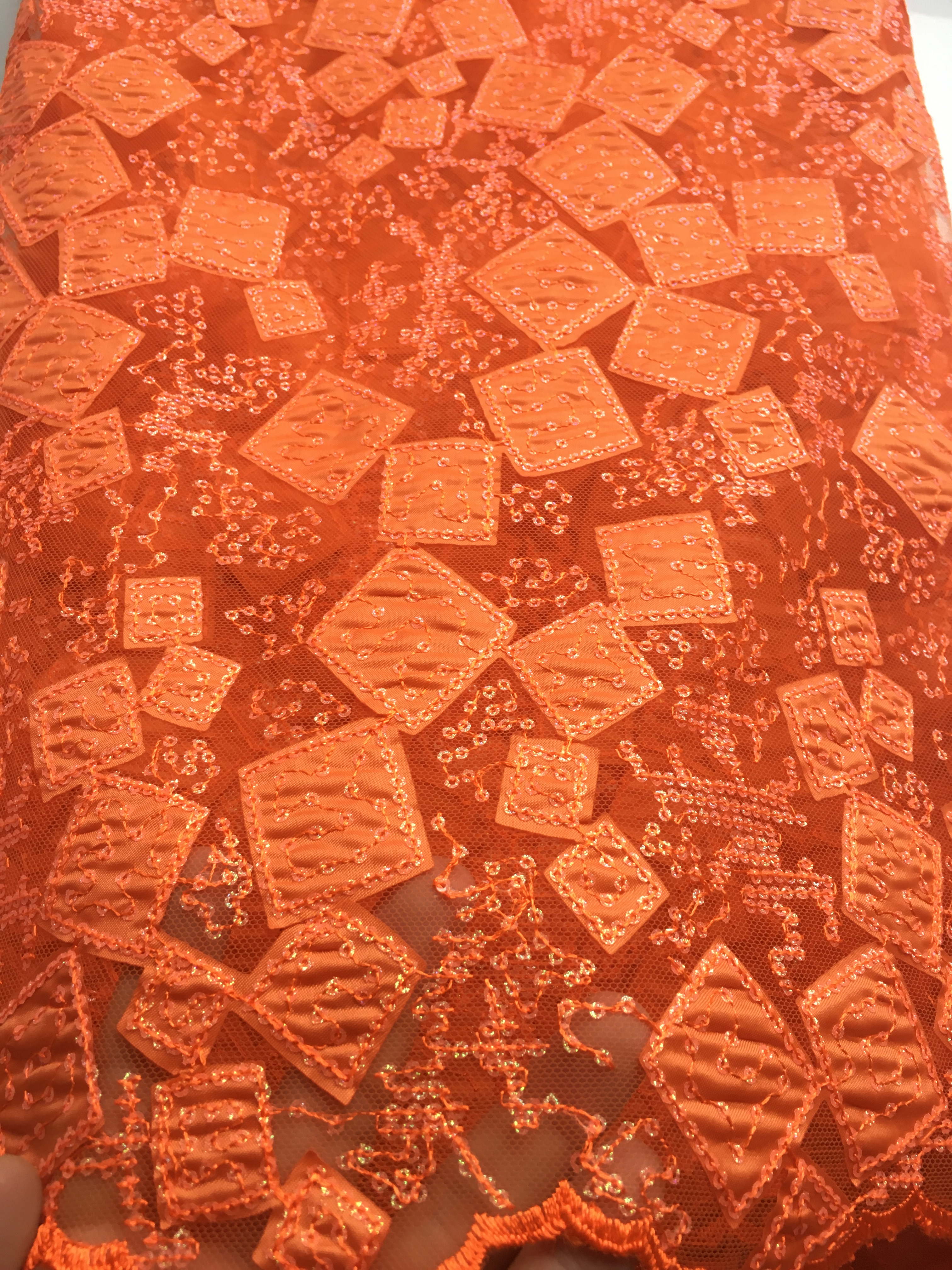 High Quality Laser Cut Lace Dress Fabric 2020 Burnt Orange Bridal Wedding Dresses Fabrics Nigerian Clothing Material