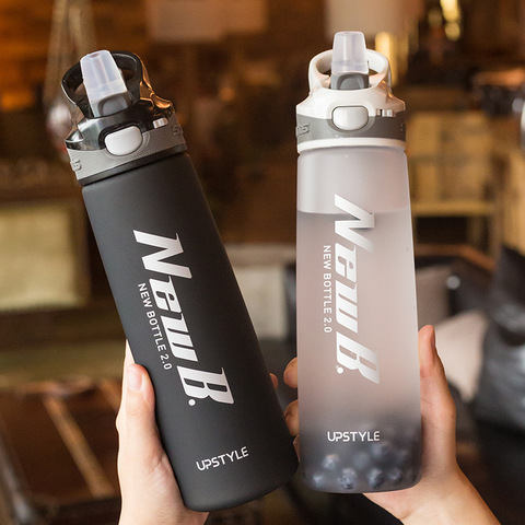 2019 new style Fitness Sport Shaker Bottle For Water Cup High Quality Student Summer Portable Drinkware Tritan Plastic 750/600ML Pakistan