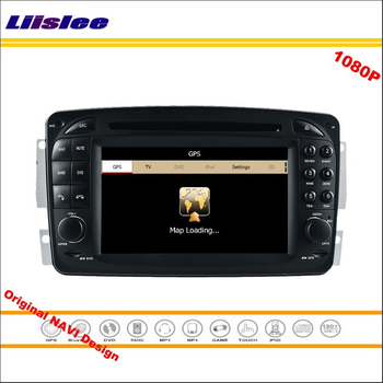For Mercedes Benz M / ML W163 1998~2002 Car Radio CD DVD Player GPS Navigation 1080P HD Screen System Original With Aux image
