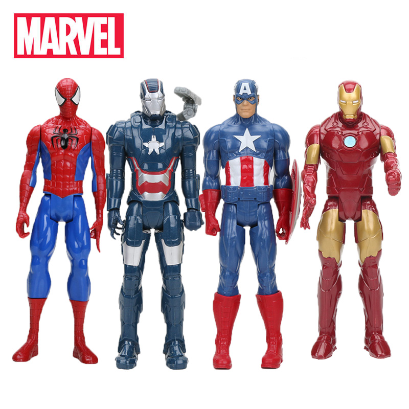 30CM Marvel Toys Avengers 3 Infinity War SuperHeroes Captain America Ironman Black Spiderman PVC Action Figure Collectible Model