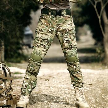 Spodnie taktyczne wojskowe bojówki wojskowe Cargo z kneepadami Outdoor Working spodnie bojowe męskie spodnie policyjne Airsoft spodnie myśliwskie tanie i dobre opinie CN (pochodzenie) Dobrze pasuje do rozmiaru wybierz swój normalny rozmiar Bawełna poliester Camouflage Frog suit combat trousers