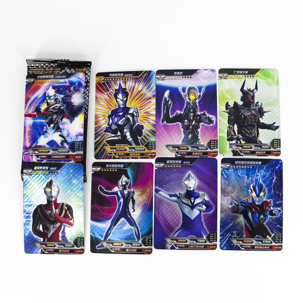 Hot Ultraman Shining Card High Quality Board Game Kaiju Toys 8 Flash Cards 1 Real 3D Card Collection For Kids