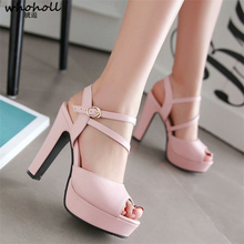 2020 Women Pumps Fashion Women Shoes Spring/ Autumn All Match Square High Heel Wedding Shoes Ladies Pumps Size 34-43 цены