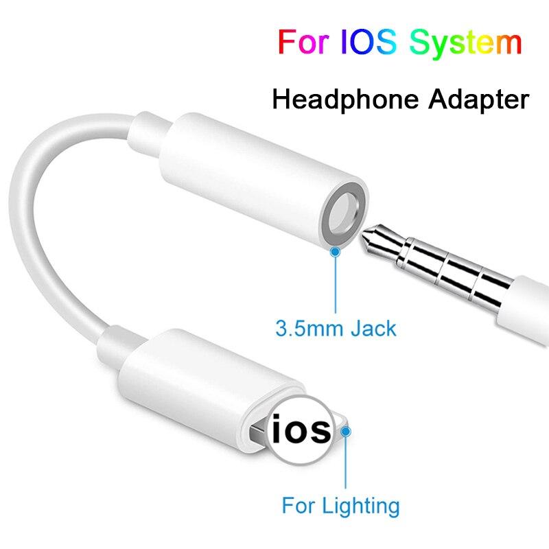 АДАПТЕРНЫЕ кабели для IOS 12 11 10 9 8 на iPhone AUX аудио наушники конвертер для iPhone адаптеры 3,5 мм разъем для наушников кабель