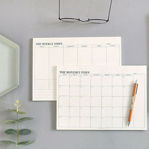 60 Pages Creative Simple Office School Supplies Stationery Notebook Memo Tearable Weekly Monthly Work Plan Schedule Notepad 2020
