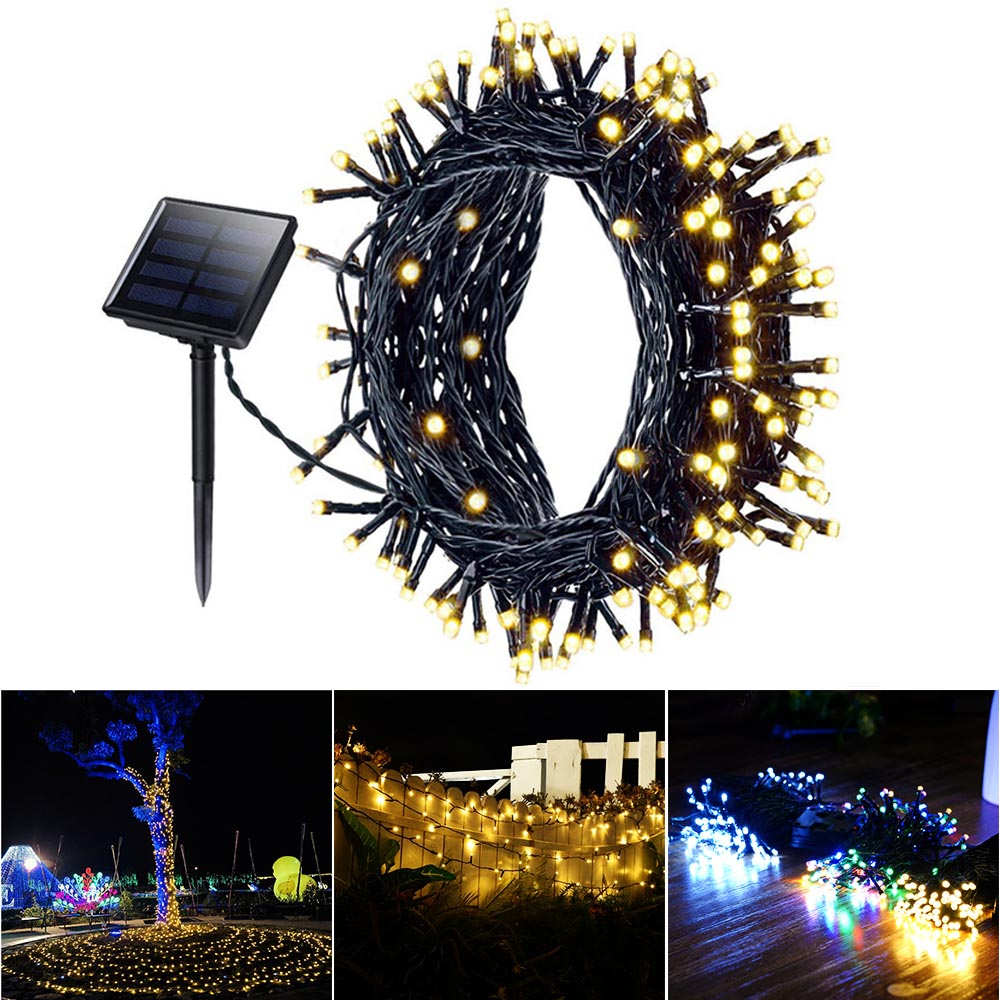 Solar Light 100/200/500 LEDs Fairy String Lights Outdoor Waterproof Christmas Garland Solar Garden Lights For Wedding Decoration
