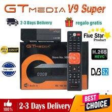 Melhor 1080p DVB-S2 gtmedia v9 super receptor de satélite mesmo gtmedia v8 nova/honra freesat v8x bulit-em wifi hd completo h2.65 nenhum aplicativo