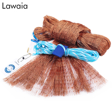 Lawaia fishing net USA cast nets diameter 240/300/360/420/480/540/600/660/720m hand throw fly network without sinker
