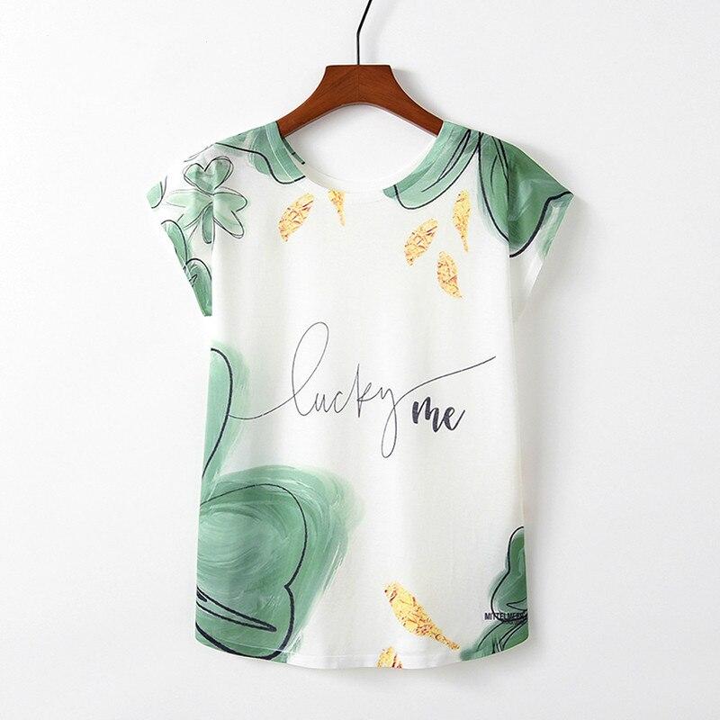Summer Autumn Women T-Shirts For Girls Harajuku Kawaii Cute Style Bird Print Loose T-shirt New Casual Lady Short Sleeve Tops Tee