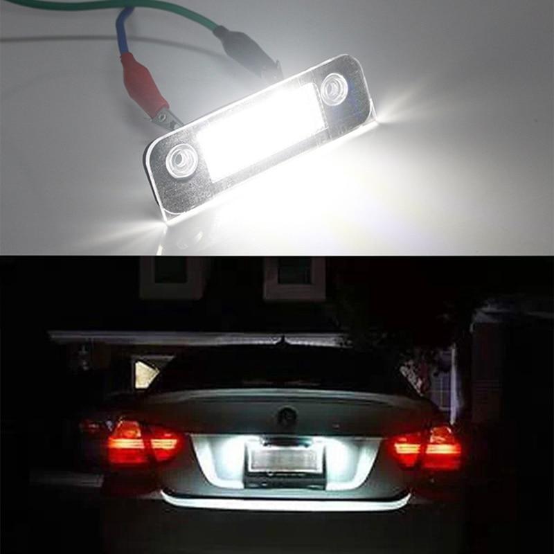 2 шт./пара белый номерной знак светильник светодиодные сигнальные лампы для Ford Fusion