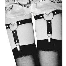 Сексуальные подвязки для ног, эластичный женский сексуальный пояс, эластичное нижнее белье, пояс для ног в форме сердца, пояс для чулок, косплей, Спайк, ремень, нижнее белье
