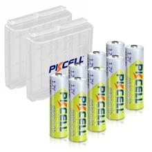 8 pièces AA 2300mah 2600mAh batteries rechargeables 1.2V NI MH AA batterie et 2 pièces batterie support de la boîte pour caméra lampe de poche jouet