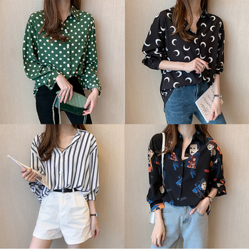 13 Styles Fall Woman Tops 2020 Fashion New Blouse Long Sleeve Womens Shirts White Black Green Casual Elegant Shirts for Women