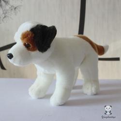 Real Life Jack Russell Terrier Plush Dolls Soft Children Holiday Gifts White Dog Model Goood Quality Present