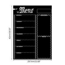 Chalkboard Meal-Planner Menu Magnetic Refrigerator Grocery Weekly New
