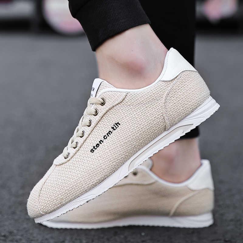Okkdey Cortez Turnschuhe Männer gump Leinen Schuhe neue Mode Marke Leinwand Schuhe Männer Atmungsaktiv Casual Schuhe Männer zapatillas de hombre