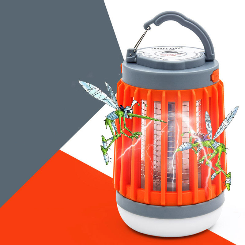 Image 2 - 2 in1 LED USB Solar power Mosquito Killer Lamp protable Lantern Outdoor Repellent light Insect Bug mosquito Trap moskito camping-in Mosquito Killer Lamps from Lights & Lighting