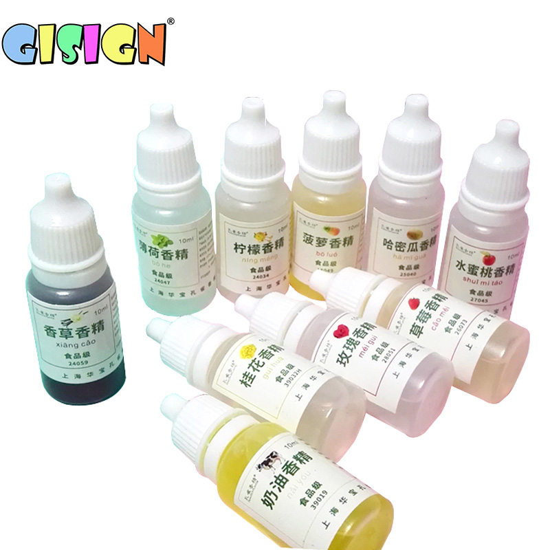 10ml Diy Flavor For Slime Polymer Clay Flavor Liquid Additive Glue For Slime Charms Fruit Aroma  Flavors Accessories Charms Kits