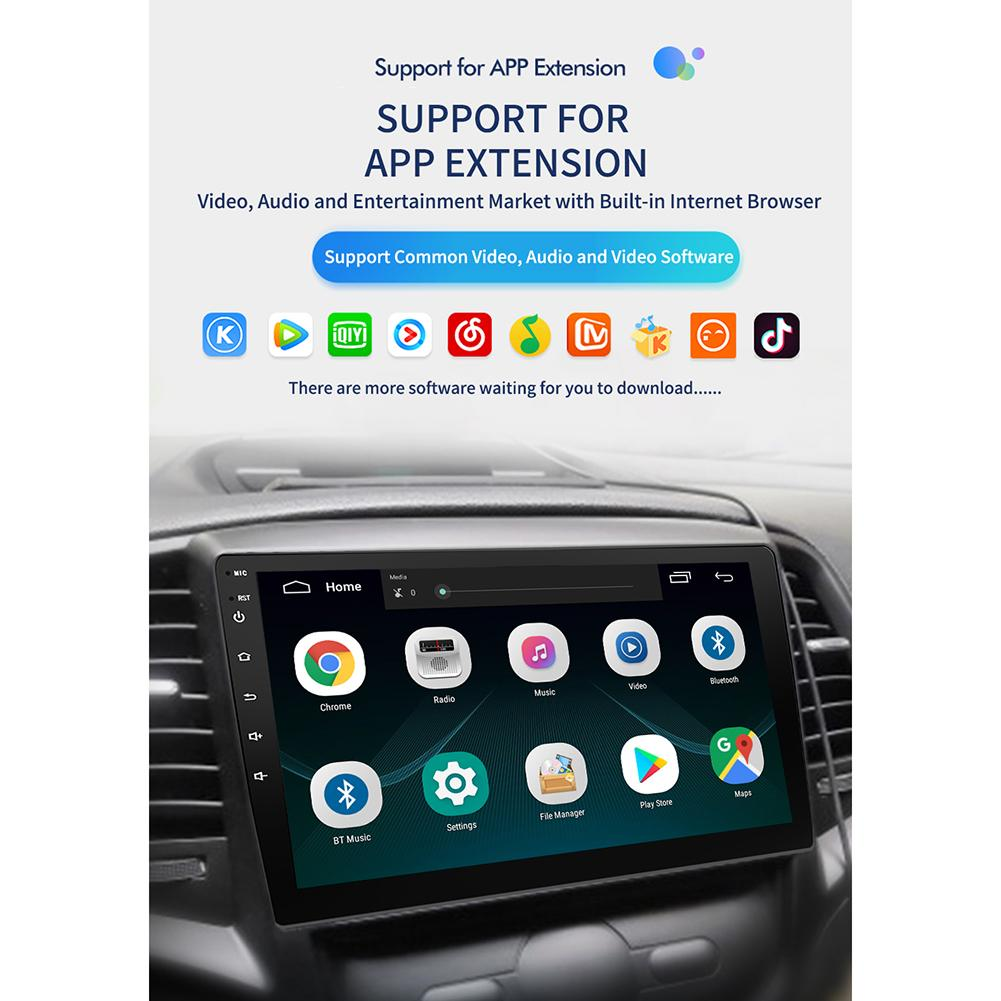 9/10. 1 Inch Autoradio Android 8.1 HD Touch Screen Bluetooth GPS Navigatie WIFI Internet Access Multi Functionele Radio & camera - 5