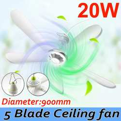 US Plug 220V 20W 90cm Energy Saving Ceiling Fan Mini Fan Anti-mosquito Hanging Fan Air Conditioner Cooler with 1.8meter cord