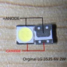 100 قطعة لإصلاح تلفاز lcd LG led tv شريط إضاءة خلفي أضواء مع صمام ثنائي الباعث للضوء 3535 الخرز LED مصلحة الارصاد الجوية 6 فولت