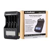 Liitokala-cargador de batería con pantalla LCD, lii-500, 3,7 V/1,2 V, AA/AAA, 18650/26650/16340/14500/10440/18500, Adaptador + Salida de 12V 2a, 5V1A