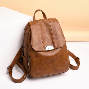 Image 4 - Mochila Feminina  Back Pack Soft Leather Women Backpack High Quality Bagpack School Bags for Teenage Girls 2019 Sac A Dos Femme