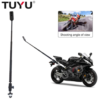 TUYU Motorcycle Camera Monopod Holder Handlebar Mount Bracket for GoPro DJI & Insta360 One R Invisible Selfie Stick Accessory insta360 one x 5 7k 18mp sport action camera for iphone android insta 360 battery charger bullet time invisible selfie stick