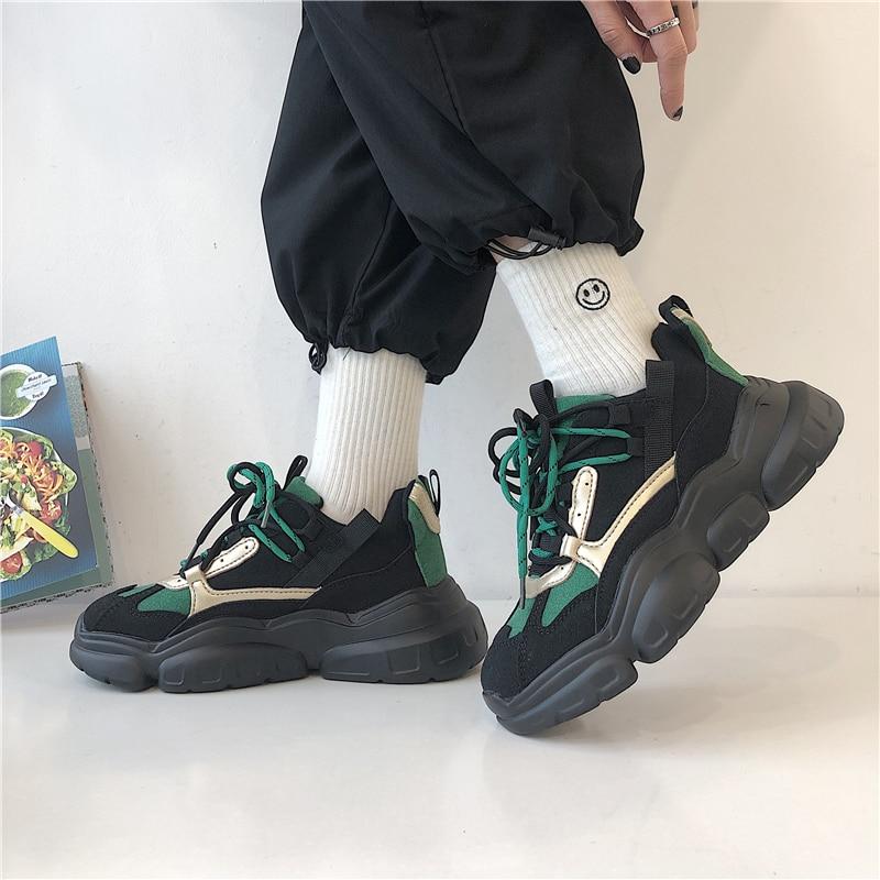 LMCAVASUN/Новые дышащие кроссовки на платформе; женская кожаная обувь; трендовые кроссовки для женщин
