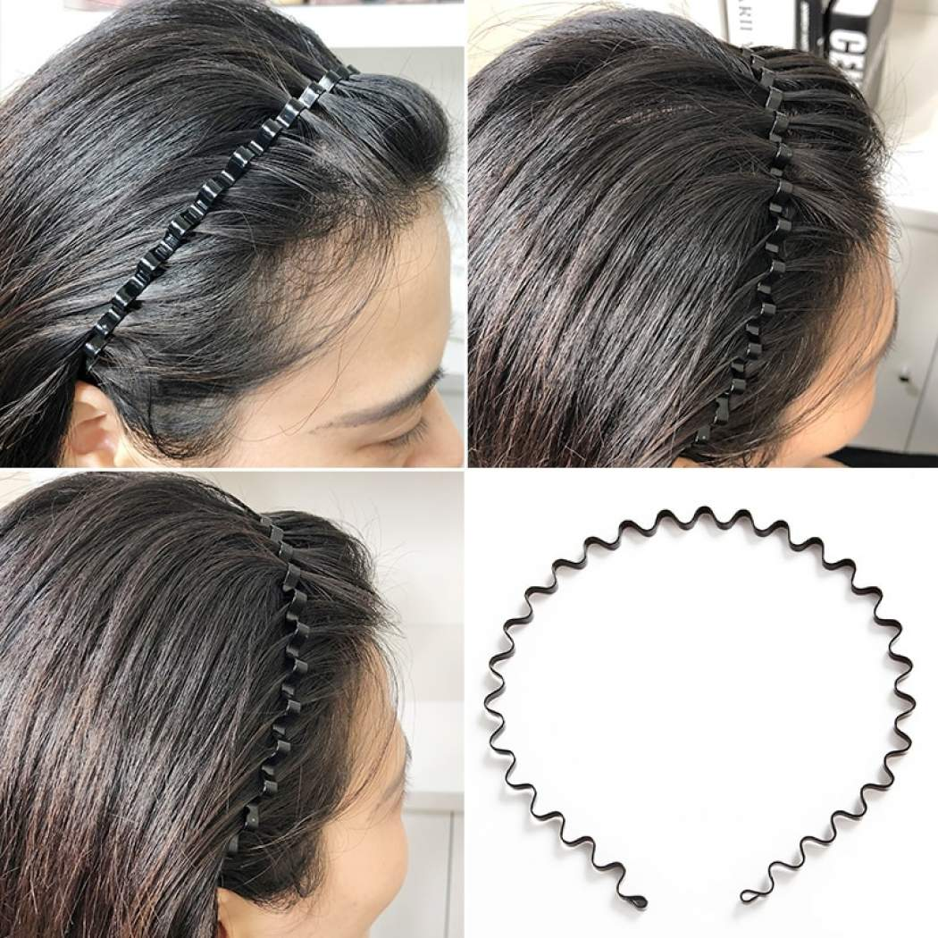 Metal Wave Shape Hair Band For Women Men Boho Hair Accessories Aliexpress