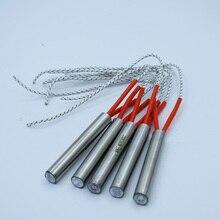 5pcs 12mm Dia. Stainless Steel Tube Cartridge Heater 12x50mm 12x80mm 12x100mm 110V/220V/380V Heating Element Heater
