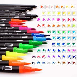 120 цветов, маркеры, кисти, фломастеры с наконечниками, с наконечником Fineliner, отлично подходят для взрослых, цветные книги, каллиграфические р...