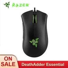 Razer DeathAdder temel kablolu oyun fare 6400DPI optik sensör 5 bağımsız programlanabilir düğmeler ergonomik tasarım